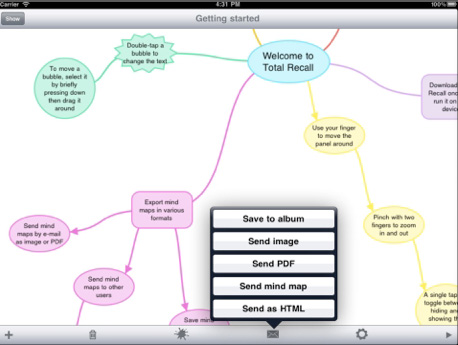 App – Total Recall­ Mind Map